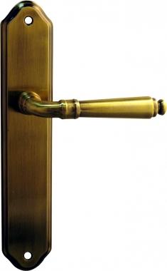 poign e de porte int rieure en zamak sur plaque c vennes poign e de porte. Black Bedroom Furniture Sets. Home Design Ideas