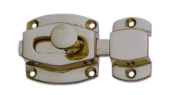 Targette de porte int rieure en laiton nickel mat for Porte interieure basique
