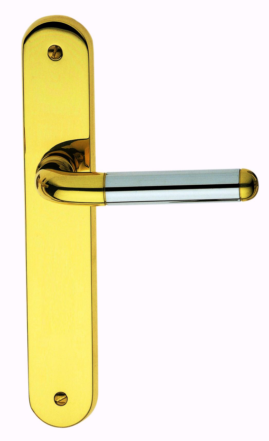 Poign e de porte int rieure design en laiton poli et for Poignet de porte en anglais