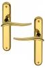 Poignée de porte intérieure design en laiton poli sur plaque BdC entraxe 195 mm, MARISA