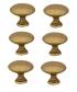 Lot de 6 boutons de porte et tiroir de meuble en laiton patiné Ø25 mm, CONVEXE
