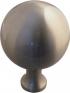 Boule de rampe d'escalier en laiton nickel mat diamètre 85 mm, BOWL Laiton
