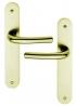 Poignée de porte intérieure design en Aluminium anodisé champagne F2 sur plaque BdC entraxe 195 mm, PIANOSA