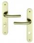 Poignée de porte intérieure design en Aluminium anodisé champagne F2 sur plaque Conda et Déconda entraxe 195 mm, PIANOSA