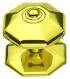 Pommeau de tirage Octogonal, en Laiton finition poli