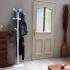 Porte-manteaux perroquet sur pied design 10 t�tes pour entr�e ou vestiaire en m�tal laqu� blanc, STANDAR