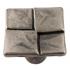Bouton de porte et de tiroir de meuble design en zamak argent de 20x20 mm, 4KAR Bouton