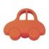 Bouton de porte et tiroir de meuble voiture enfant en plastique rouge-orange de 44X34 mm, PETITE OTO