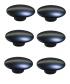 Lot de 6 boutons de porte et tiroir de meuble design en zamak anthracite de 38x21mm, COMETE