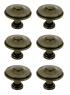 Lot de 6 bouton de porte et tiroir de meuble en zamak patiné Ø30 mm, LYONNAIS