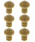 Lot de 6 boutons de porte et tiroir de meuble  en bois pin Ø30 mm, LYONNAIS