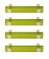 Lot de 4 poignées de porte ou tiroir de meuble design en acrylique vert entraxe 96 mm, SQUARE Poignée