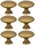 Lot de 6 boutons de porte et tiroir de meuble en laiton patiné de Ø30mm,  ROND