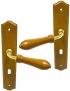 Poignée de porte pas cher en bois merisier sur plaque Clé L, DIANE