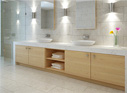 Boutons de portes et de tiroirs de meubles de salles de bains
